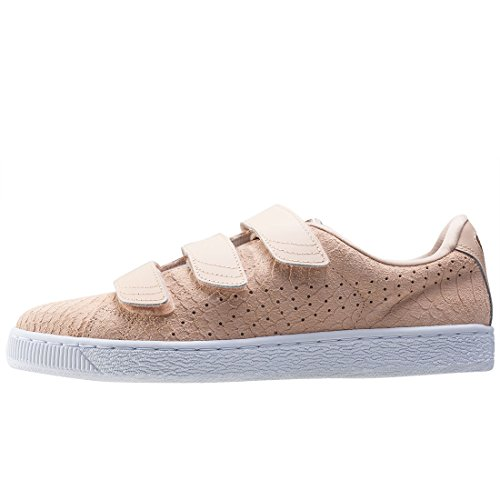 Puma Basket Strap Exotic Skin Damen Sneaker Nude Beige