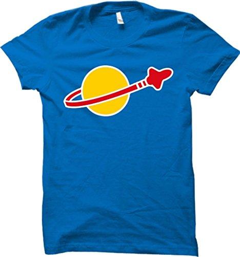 Klasisches Space Logo T-Shirt Sheldon Cooper Retro Comedy, lustig, cool, hochwertig Gr. L, blau -