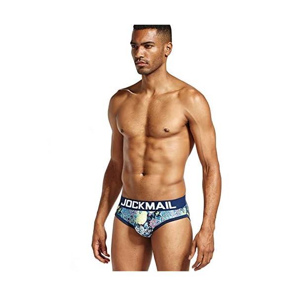 Jockmail La Moda para Hombre Calzoncillos Ropa Interior para Hombre Calzoncillos Boxer para Hombre Florales Impresos Calzoncillos Ropa Interior Gay Hombres Ropa de Dormir