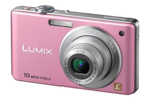 Panasonic Lumix DMC-FS62EG-P Digitalkamera (10 Megapixel, 4-fach opt. Zoom, 6,4 cm (2,5 Zoll) Display, Bildstabilisator) sweet-pink (10 2.5 Mp)
