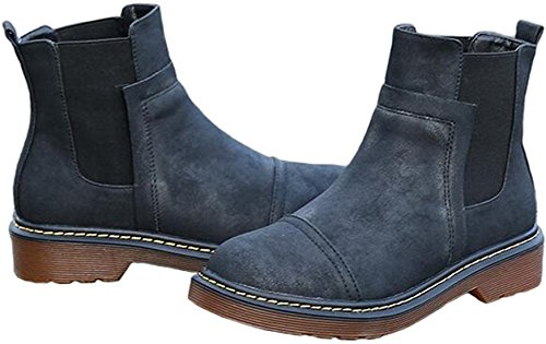 Classic PPXID Noir Chelseas Derby Femme Fille Bottes Chaussures qYwYx6Sn1v
