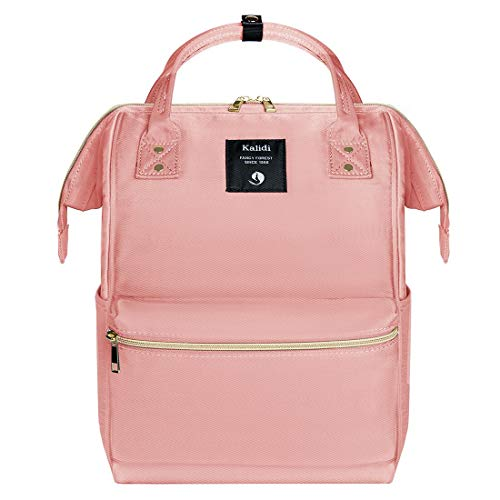 KALIDI Rucksack Damen Rucksack Herren Mädchen Jungen & Kinder Vintage Schulrucksack mit laptopfach für 15 Zoll Notebook,wasserdichte Schultasche,Rosa - Rosa Laptop-rucksäcke