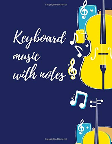 keyboard music with notes: Blank Sheet Music Composition and Notation Notebook /Staff Paper/Music Composing / Songwriting/Piano/Guitar/Violin/Keyboard ... note book/blank music notebook(Size 8.5x11) (Elton John Sheet Music Piano)