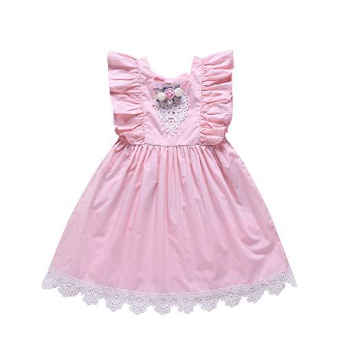 r Spitzenrock für Kinder Baby, Kleinkind Mädchen Kinder ärmellose Blume Spitze Prinzessin Kleid Kleidung ()