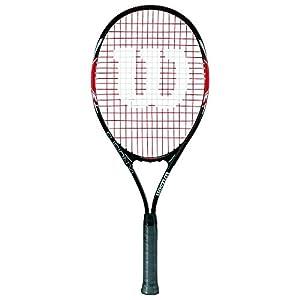 Wilson Damen/Herren-Tennisschläger, Anfänger, Fusion XL, schwarz/rot