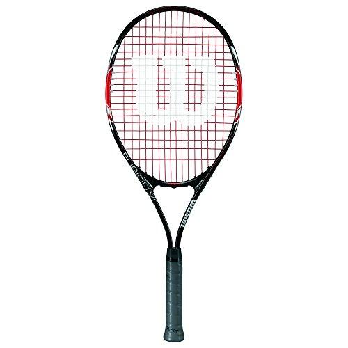 WILSON Fusion XL, Racchetta da Tennis per Giocatori Principianti Unisex - Adulto, Rosso/Nero, 3