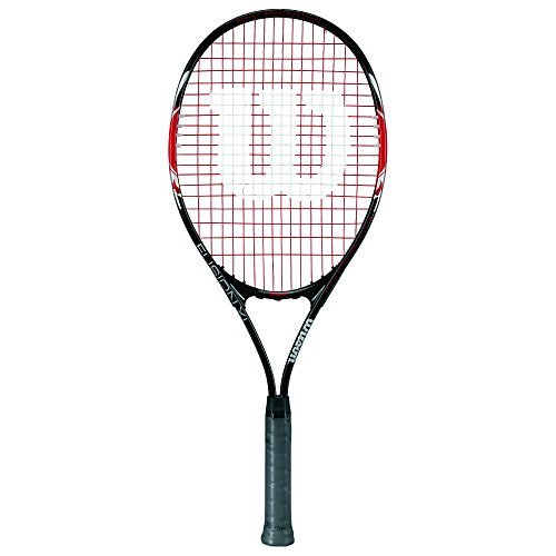 Wilson Damen/Herren-Tennisschläger, Anfänger, Fusion XL, Griffstärke 3, schwarz/rot, WRT30070U3 -