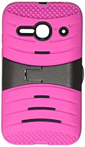 Zizo Alcatel One Touch Evolve 2 4037T UCASE Cover with Kickstand and Screen Installed - Retail Packaging - Hot Pink