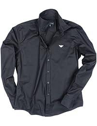 Emporio Armani - Chemise à manches longues - Homme - Slim Fit - Noir