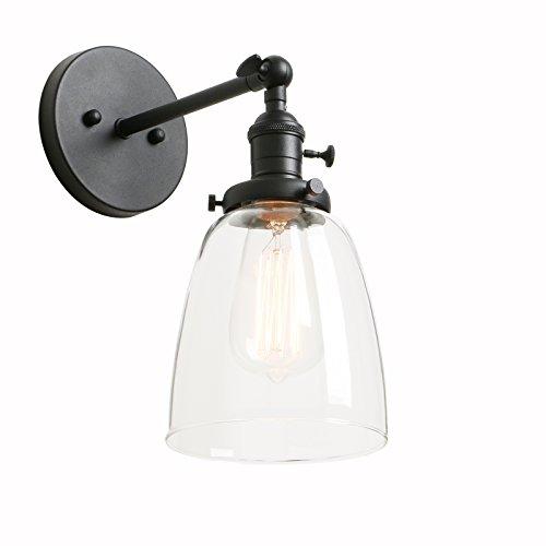 Phansthy Schwarz Antik Deko Design Klar Glas innen Wandbeleuchtung Wandleuchten Loft-Wandlampen Wandbeleuchtung