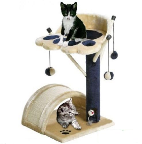 BUNNY-BUSINESS-Cat-Bed-and-Scratching-Post-with-Toys-Scratch-Posts-Tree