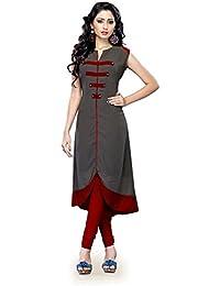 Muta Fashions Cotton Blend Grey Ethnic Women Kurti ( KURTI49_Grey)