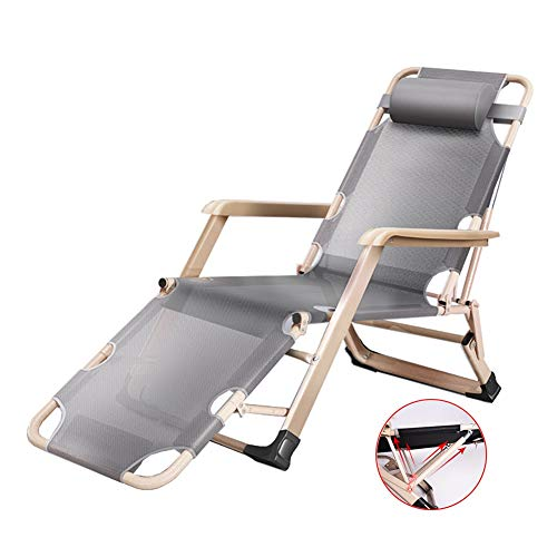 Tumbonas Sillones reclinables de salón Tumbona reclinable gris, para trabajo pesado XL...