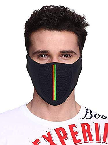JMD Cotton Half Face Mask Dust Protection Anti Pollution with Air Filter (BLACK, FREE SIZE)