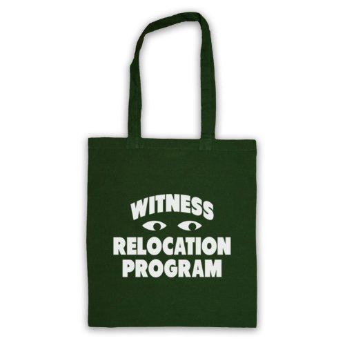 Witness trasferimento programma Funny Slogan Tote Bag Verde scuro