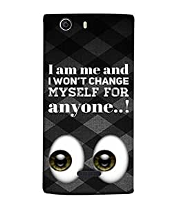 Fuson Designer Back Case Cover for Micromax Canvas 5 E481 (Wordings about Myself Popping Searching Eyes )
