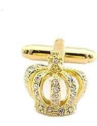 SAMGU Gentleman Imperial Crown Men Shirt Cufflink Pour bijoux de mariage