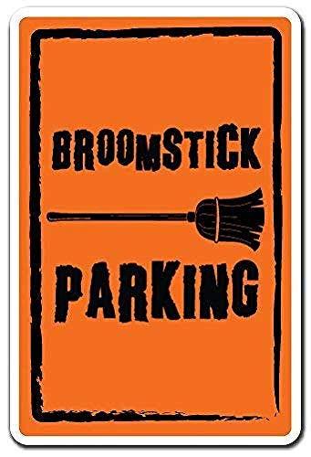Toddrick Broomstick Parking Halloween Parking Warning Zinn schicke Zeichen Vintage-Stil Retro Küche Bar Pub Coffee Shop Dekor 8