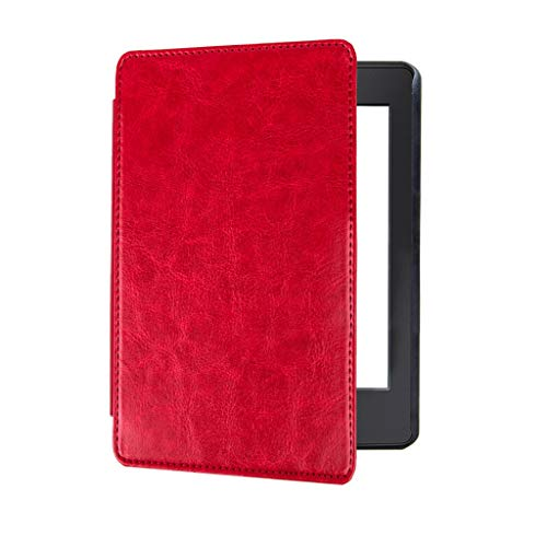Hülle für Amazon Kindle 10th Gen 6 Zoll, Amuse-MIUMIU Slim Smart Ledertasche Handheld Schutzhülle Magnet Kratzfest Case Cover für Amazon Kindle 10th Gen 6 Zoll 2019 (Rot) (Tablet-tastatur-fall 6 Zoll)