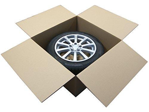 """Preisvergleich Produktbild 1 Stück Felgenkarton für Ein Komplettrad 20-22"""" 750mm x 750mm x 320mm / Karton / Felgen / Komplettrad / Reifen / Reifenkarton / Faltkarton / Rad / New / complete / wheel / cardboard / Versand / Lagerung / Werkstatt / Alufelgen / Stahlfelgen / Zoll / Inches / Verpackung / package / Pappekarton / haltbar / carton / Rims / packing / sending / Transport / store / safe / sicher / Neu /"""