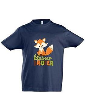 wolga-kreativ T-Shirt kleiner Bruder dunkelblau Fuchs
