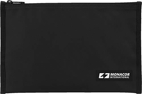 Monacor BAG-280 Universal-Tasche zum Transport und zur Aufbewahrung von z. B. technischen Unterlagen, Mikrofonen, Kabeln und Adaptern, schwarz