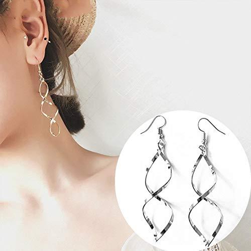 WJSAT Ohrringe Gold Splitter Tropfen Ohrringe Für Frauen -