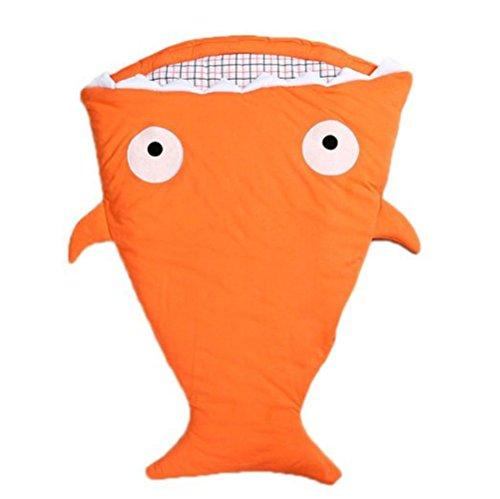 Preisvergleich Produktbild VLUNT Baby Schlafsack Shark vielseitige neue kreative anti-Tipi Swaddling Decke aus 100% Baumwolle Babyschlafsack Fruehling Herbst und Winter Hold