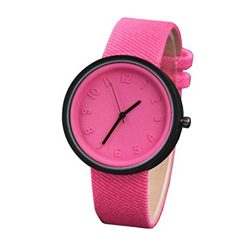 c75d45ea0051 Moda Simple Unisex Reloj De Pulsera De Cuarzo Con Correa De Lona De Number  Watches Relojes