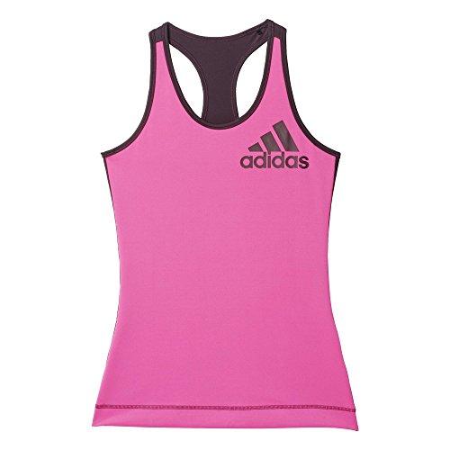 Adidas Techfit Logo Tk Maglia da Donna, Rosa/Rosso (Rosimp/Rojmin), L