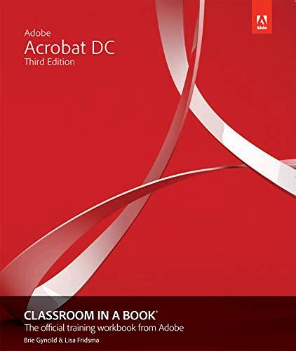 Adobe Acrobat DC Classroom in a Book (English Edition)
