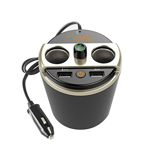 Preisvergleich Produktbild Pzhhzpingg Autozubehör Wireless für Bluetooth-Autoradio-Adapter Freisprecheinrichtung USB-Ladegerät FM-Transmitter (Schwarz)