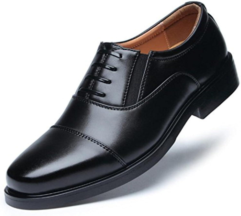 Zapatos De Cuero para Hombres Vestido Clásico Zapatos Militares para Empresas -