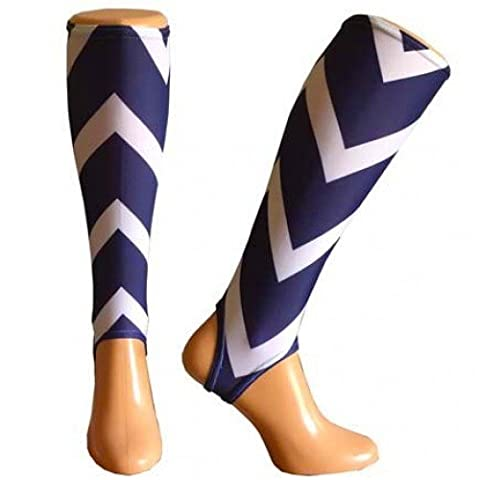Shinnerz inner sock - shin liner protection under shin pad. (Chevron - Go faster!, Medium 13-14