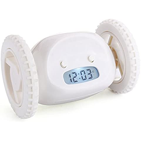 Bluelover Magica corsa pellame dell'orologio di allarme e cercare creativo sveglie pigro Bane Home Decor regalo - bianco - Cuscino Dell'anello Set