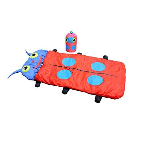 F-blue Infantil de Dibujos Animados para niños Kids Insectos Escarabajo Recorrido el Dormir del lecho de Saco de Bolsillo Que acampa al Aire Caliente de los Pijamas