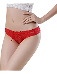 Sanwood® Femme creux dentelle string V Slip culotte string Lingerie Sous-vêtements