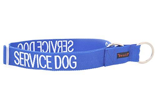 SERVICE DOG Blue Farbkodiertes L XL Semi Choke Hundehalsband (Do Not Disturb) verhindert Unfälle durch Warnung Sonstige Ihren Hund im Voraus (Kragen Choke-kette Dog)