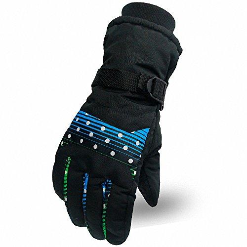 AILEESE Invierno esquí hombres mujeres calor snowboard exterior impermeable deporte antideslizante ciclismo motocicleta guantes
