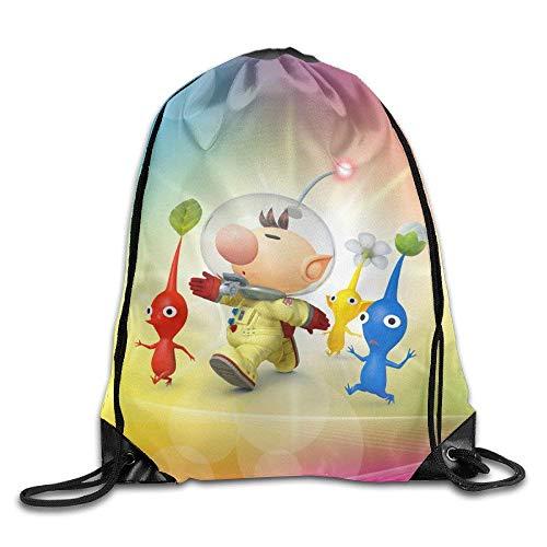 HLKPE Pikmin Game Nylon Drawstring Backpack Home Travel Sport Storage