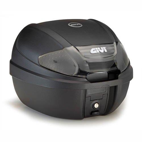 Givi E300NT Tech Monolock Topcase mit Platte, Schwarz, 40