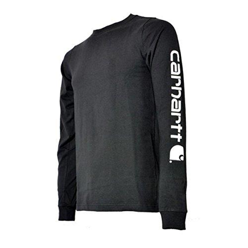 Carhartt Longsleeve Logo langarm Shirt 100% BW EK231 anthrazit