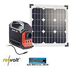 reVolt 2in1 Solar Konverter: Solar-Generator & Powerbank mit 20-W-Solarzelle & Anschlusskabel, 42Ah (Inselanlage)