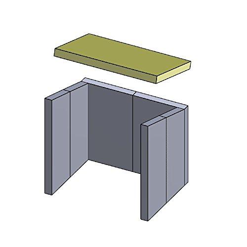 Heizgasumlenkplatte 431x283x30mm (Schamotte)