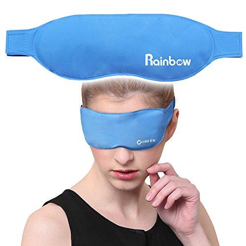 Augenmaske Kühlakku Gel Kühlpads Schlafen mit Hot Cold Therapien wiederverwendbar und schnelle...