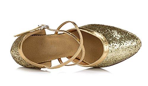 TDA - Strap alla caviglia donna 8cm Heel Gold
