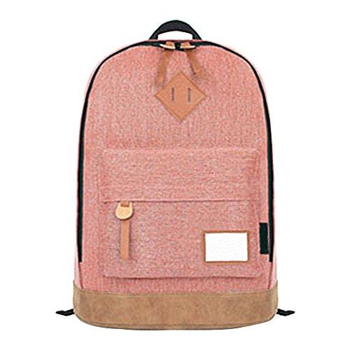 OCHENTA Rucksack Laptop Computer Student Schulrucksack Schultertasche Pink