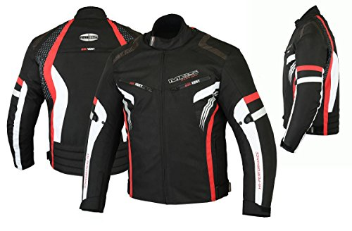 MBSmoto MJ22 Max Motorcycle Motorbike Short Textile Chaqueta deportiva (rojo, 5XL)