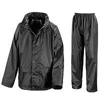 Kids Waterproof Jacket & Trousers Suit Set in Black, Navy Blue or Royal Blue Childs Childrens Boys Girls 30