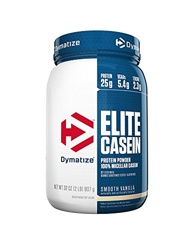 Dymatize Nutrition Elite Casein, Smooth Vanilla, 2.12 Pound - 419N7Q9QtiL